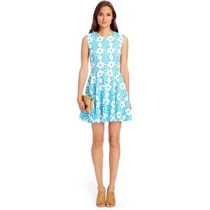DIane Von Furstenberg Jeannie Blue Fit Flare Dress